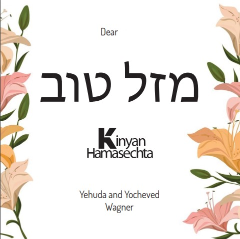 Yocheved Wagner Poen for Kinyan Hamasechta Wives
